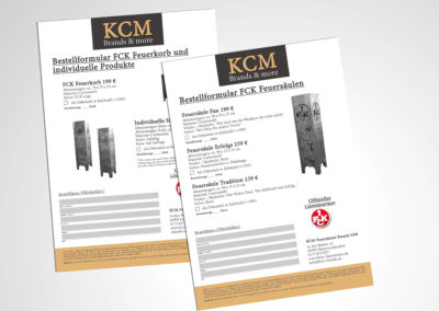 Bestellformular KCM Feuersäulen