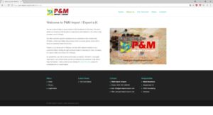 P&M Import Export - About Us