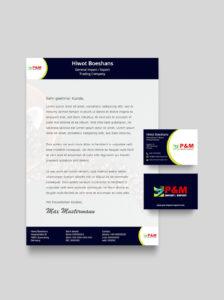 Briefpapier Mockup P&M Import Export v 1