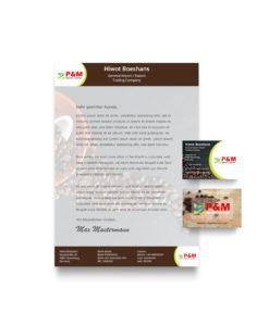 Briefpapier Mockup P&M Import Export v 2