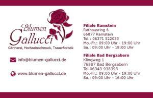 Visitenkarte - Blumen Gallucci
