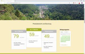 Ferienwohnung Eußerthal - Buchung