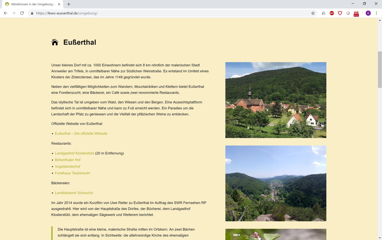 Ferienwohnung Eußerthal - Umgebung 1
